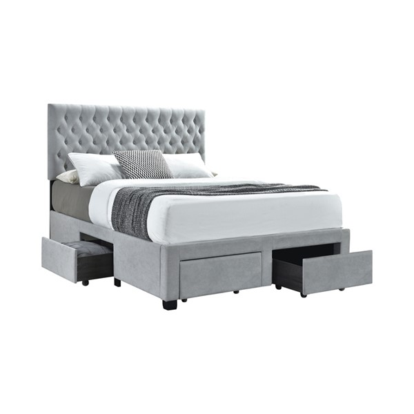 Coaster Furniture Soledad Light Grey Full Bed CST-305878F