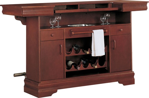 Traditional Cherry Wood Drawers & Door Bar Unit CST-3078