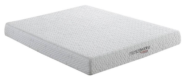 Coaster Furniture Caspian White 8 Inch Queen Memory Foam Mattress CST-350091Q
