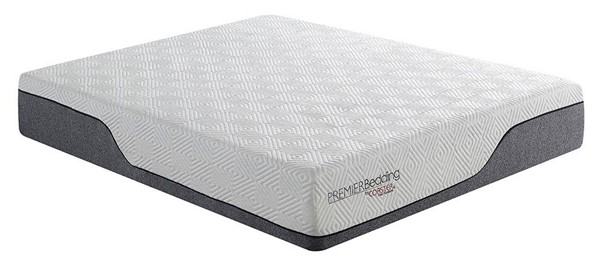 Coaster Furniture Soren White Grey 12 Inch Queen Hybrid Pocket Coil Mattress CST-350093Q