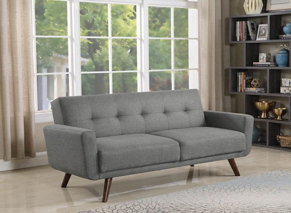 Coaster Furniture Grey Fabric Tufted Back Sofa Bed CST-360139