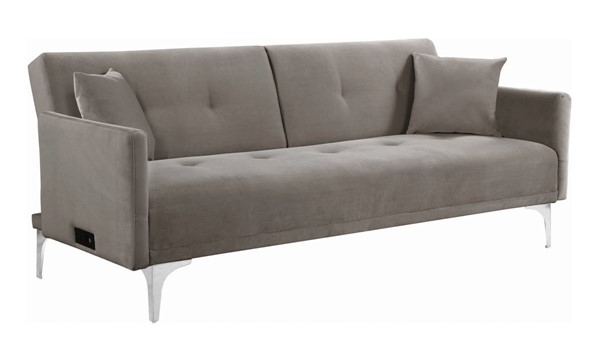 Coaster Furniture Blythe Taupe Sofa Bed with Power Outlet CST-360222