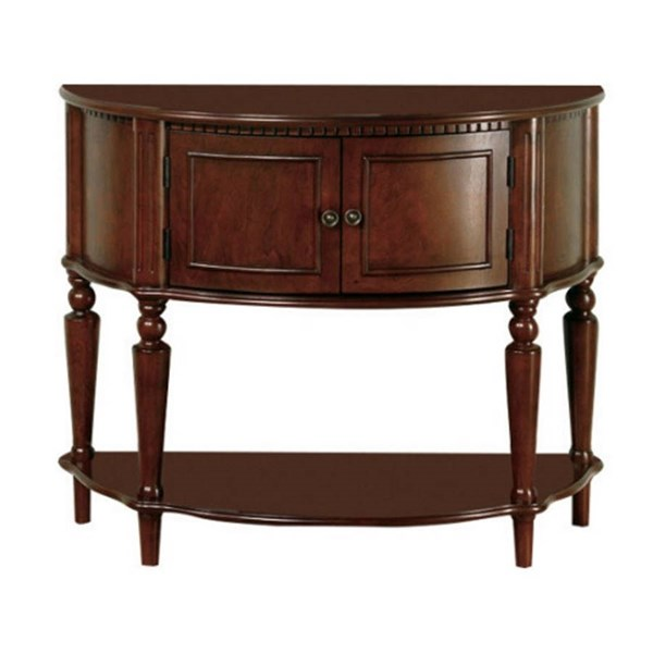 Coaster Furniture Brown Wood Half Round Accent Table The
