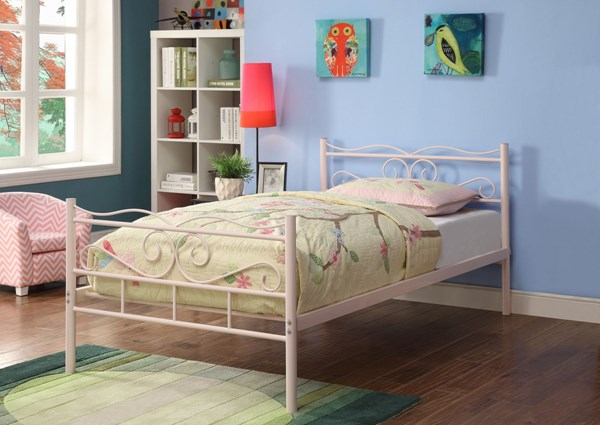 Bailey Youth Pink Metal Twin Bed CST-400030T