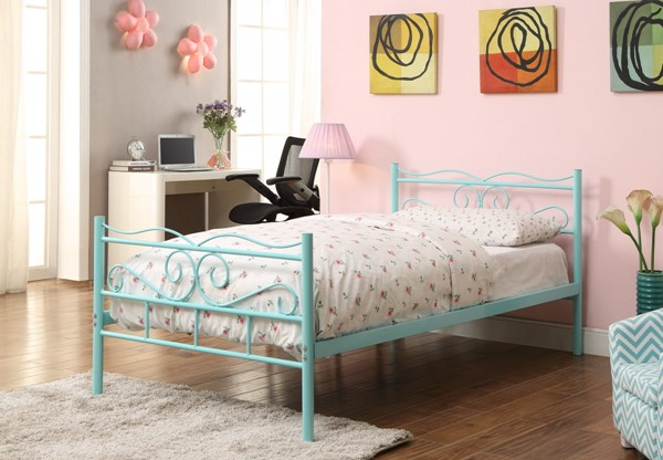 Bailey Youth Mint Green Metal Twin Bed CST-400152T