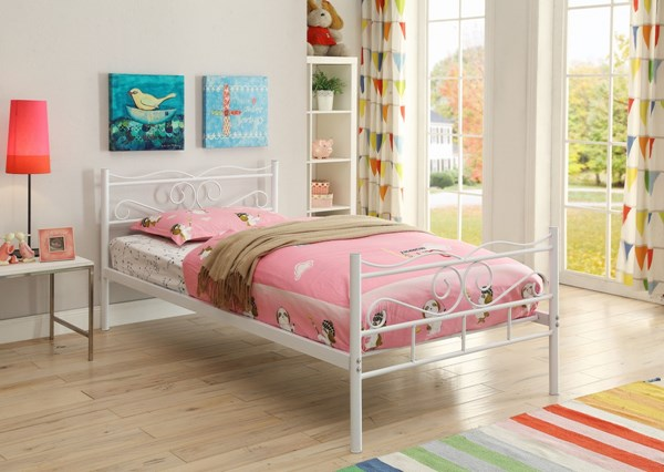 Bailey Youth White Metal Twin Bed CST-400153T