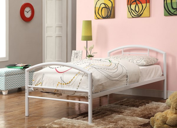 Baines Youth White Metal Twin Bed CST-400158T