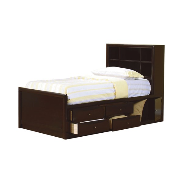 Phoenix Storage Bedroom Set From Coaster 200409: Coaster Furniture Phoenix Cappuccino Twin Platform Storage