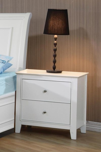Selena Cottage White Wood Night Stand CST-400232