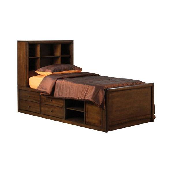 Coaster Furniture Hillary Warm Brown Twin Chest Bed CST-400280T