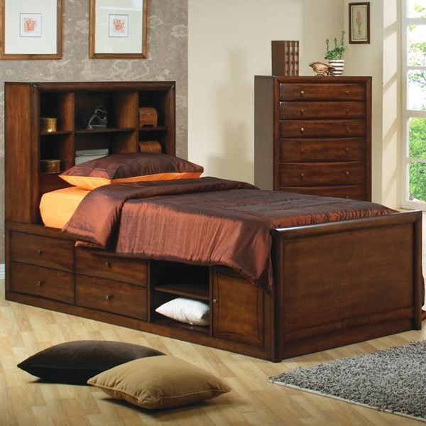 Scottsdale Transitional Deep Walnut Beds CST-400280-B