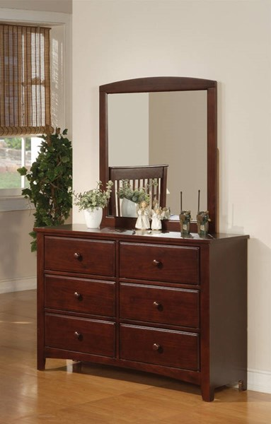 Parker Traditional Cappuccino Wood Drawer Dresser CST-400293