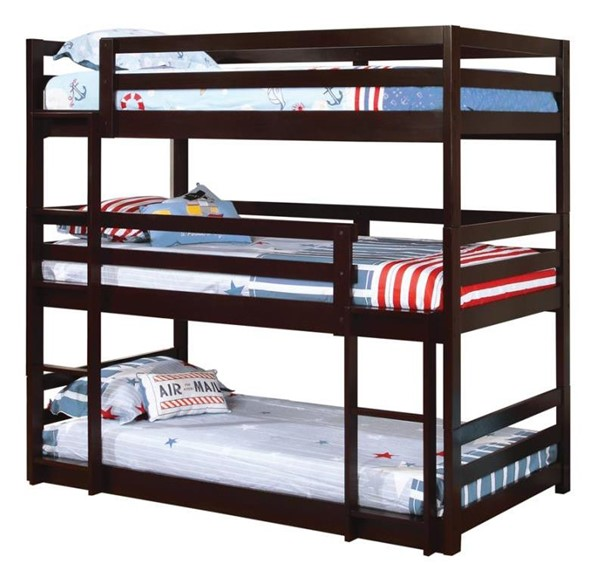 Coaster Furniture Sandler Cappuccino Twin Bunk Bed CST-400302