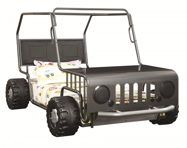 Casey Transitional Metal Leatherette Jeep Twin Bed CST-400371-72-VAR
