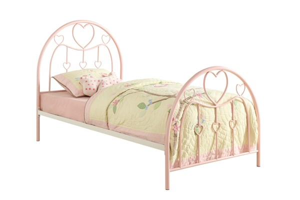 Juliette Transitional Pink Metal Twin Bed CST-400571T
