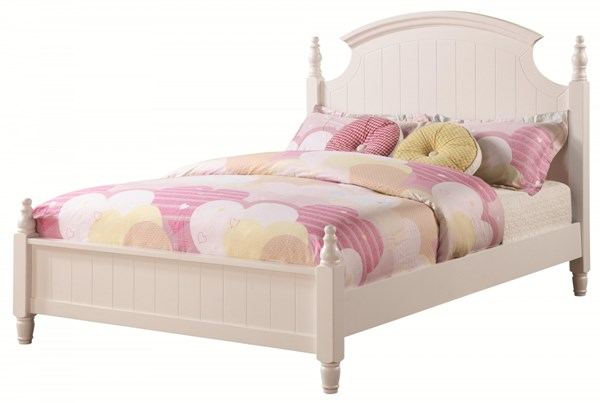 Bethany Transitional White Wood Full Bed CST-400681F