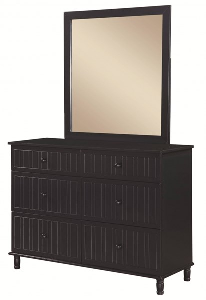 Zachary Transitional Navy Wood Dresser & Mirror CST-400693-94