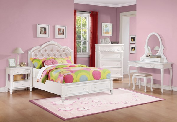 Coaster Furniture White 4pc Kids Bedroom Sets CST-400720-BR-VAR