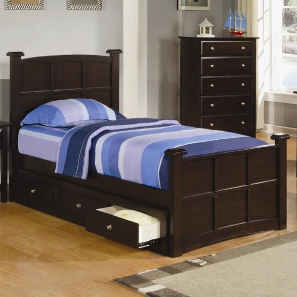 Jasper Transitional Cappuccino Twin Beds CST-400751T