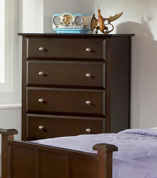 Jasper Transitional Cappuccino Wood Drawer Chest CST-400755