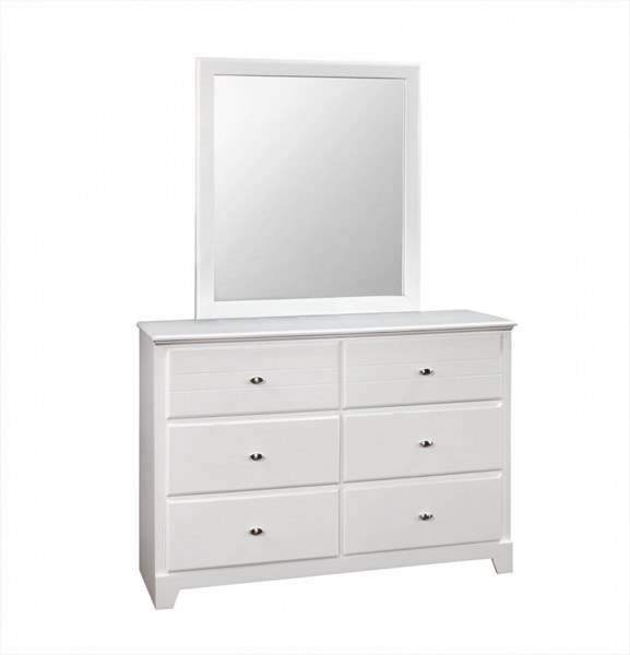 Coaster Furniture Ashton White Dresser and Mirror CST-400763-DRMR