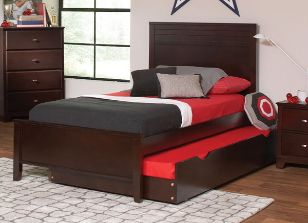 Ashton Cappuccino Wood Full Bed w/Trundle CST-400771F-76