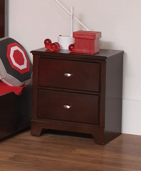 Ashton Cappuccino Wood 2 Drawers Nightstand CST-400772