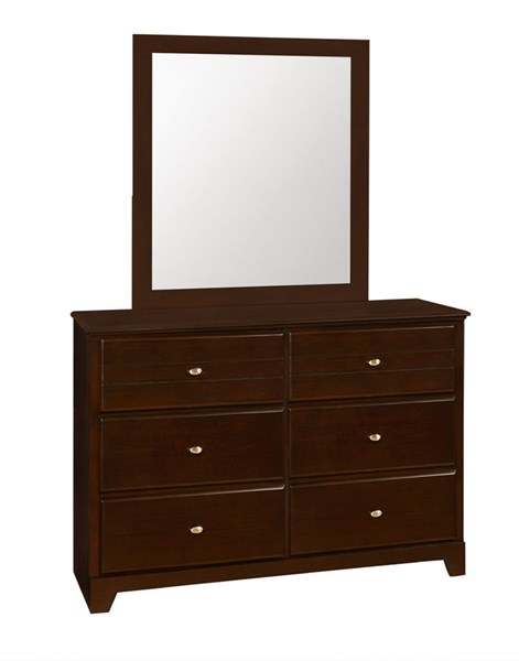 Ashton Cappuccino Wood Glass Portrait Mirror CST-400774