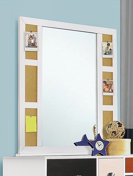 Lemoore Tropical White Wood Glass Mirror CST-400794