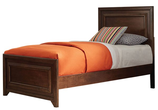 Coaster Furniture Greenough Maple Oak Wood Twin Panel Bed CST-400821T
