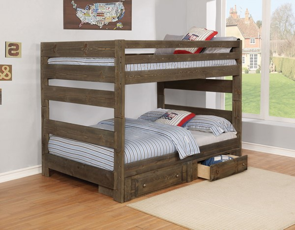 Coaster Furniture Wrangle Hill Full Over Full Storage Bunk Bed CST-400833-32