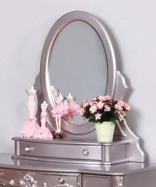 Coaster Furniture Caroline Metallic Lilac Solidwood Vanity Mirror CST-400897