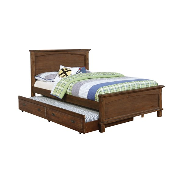 Coaster Furniture Kinsley Brown Twin Panel Bed CST-401001T