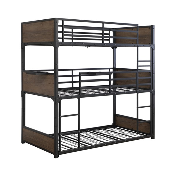 Coaster Furniture Nickerson Matte Black Triple Bunk Bed CST-401080T