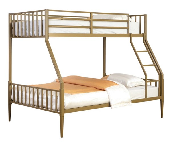 Coaster Furniture Kidron Gold Twin Over Full Bunk Bed CST-401667