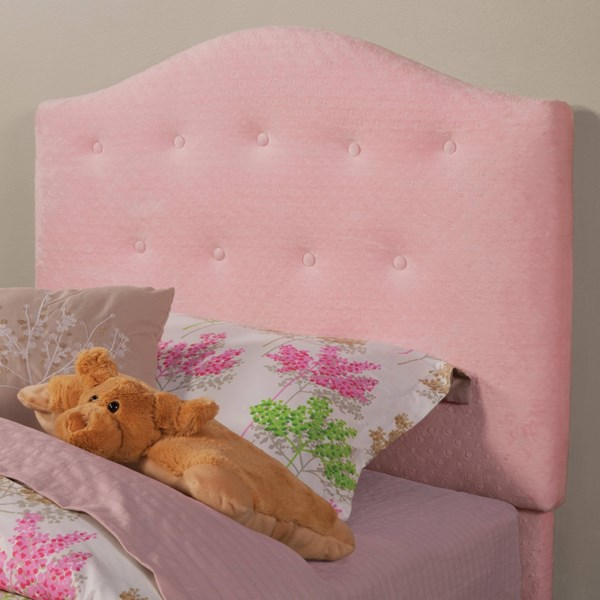 Charlotte Traditional Pink Wood Fabric Twin Headboard CST-405020T