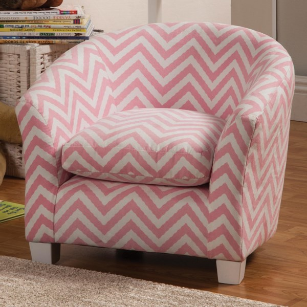 Charlotte Traditional Pink Fabric Wood Kids Chair CST-405022