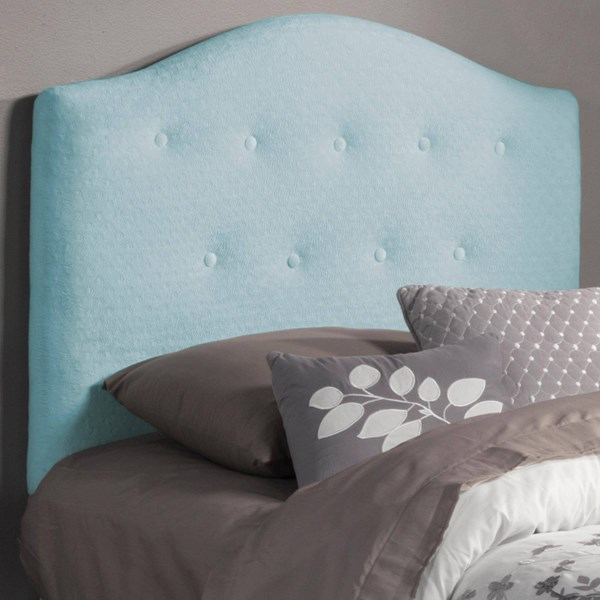 Isaac Traditional Blue Wood Fabric Twin Headboard w/Bed Frame CST-405024T-FRAME