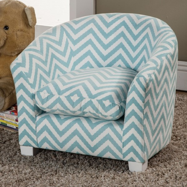 Isaac Traditional Blue Wood Fabric Kids Chair CST-405026