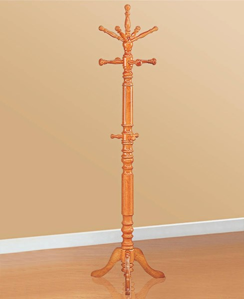 Amber Wood Spinning Top Coat Rack CST-4059