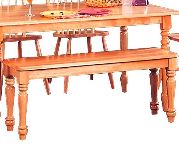 Casual Natural Wood Armless & Backless Bench CST-4118