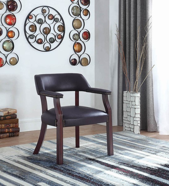 Coaster Furniture Cappuccino Burgundy Faux Leather Office Chair CST-411B