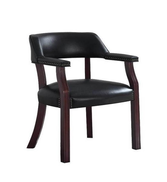 Coaster Furniture Cappuccino Black Faux Leather Office Chair CST-411K