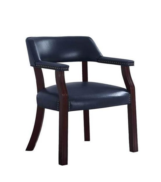 Coaster Furniture Cappuccino Blue Faux Leather Office Chair CST-411N