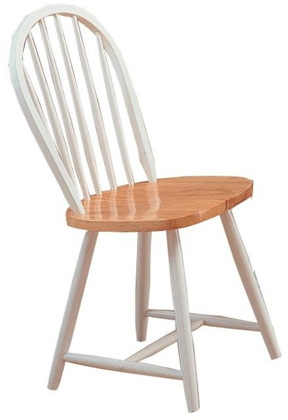 4 Natural White Wood Solid Seat Side Chairs CST-4129