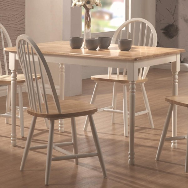 Casual Natural White Wood Rectangle Dining Table CST-4147