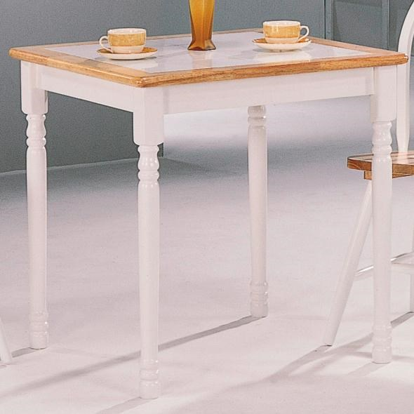 Casual Natural White Wood Solid Top Dining Table CST-4191