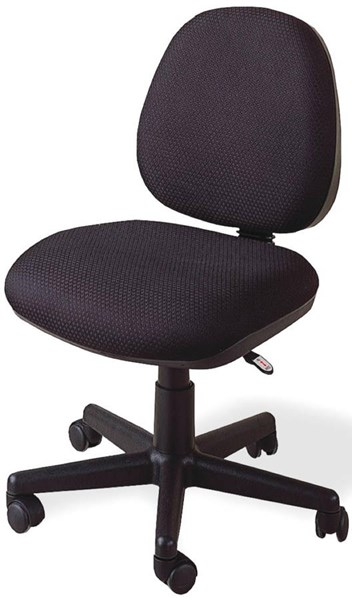 Black Fabric Padded Back Office Chair CST-4200