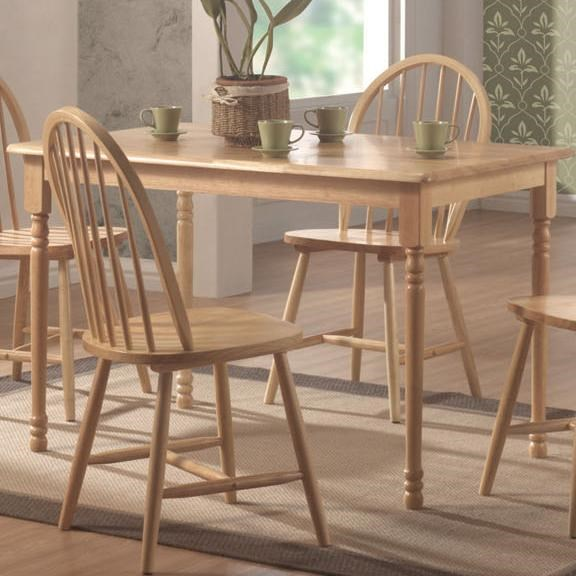 Casual Natural Wood Solid Top Dining Table CST-4347
