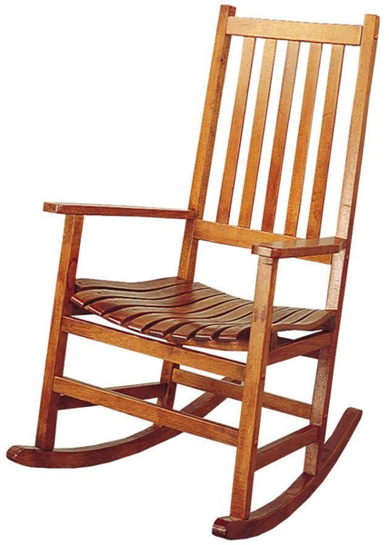 Country Warm Brown Wood Rocker CST-4511